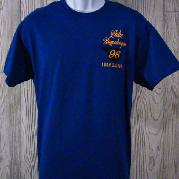 Downtown Original Lake Namakagon T-Shirt Blue Front