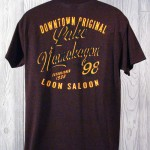 Downtown Original Lake Namakagon T-Shirt  Burgundy Back