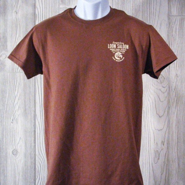 Legendary Loon Saloon T-Shirts - Brown