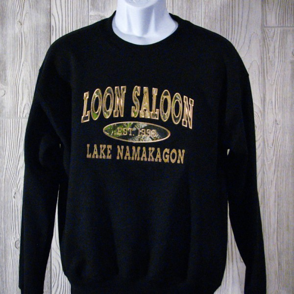 Loon Saloon Established 1998 Crewneck Sweatshirt