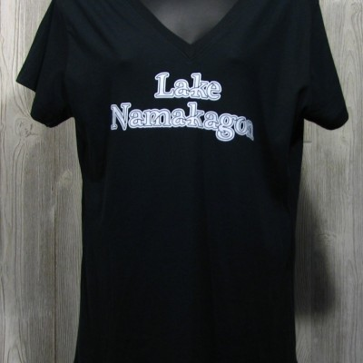 Ladies V Neck Lake Namakagon Tee